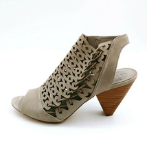 Vince Camuto Womens Emberla Cut-Out Leather Bootie Heel Sandals Shoes Grey 8.5M - $34.64