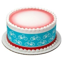 """4"""" Round Bicycle Edible Image Cake Topper - $9.99"""