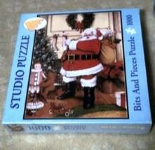 Santa Claus And I Never Get Tired Bits and Pieces 1000 Pc Puzzle NIB Sealed - $26.72