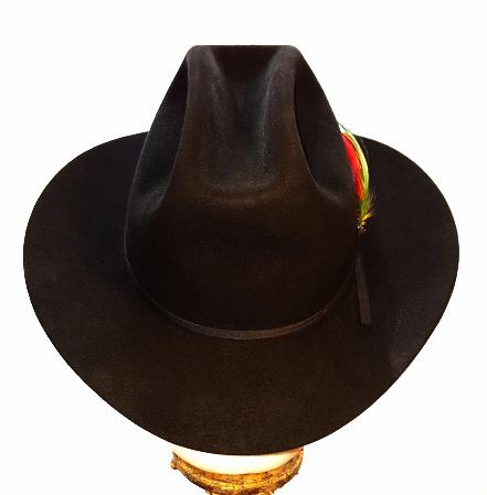 739cc9d7d06 Stetson Vintage Cowboy Western Hat 4X Beaver Ranch Hat Black Mens 7 1 4  Unworn