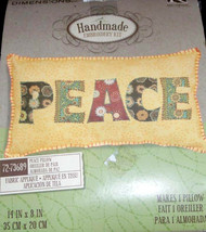 Dimensions Peace Pillow Kit #72-73689 Fabric Applique Embroidery Kit  - $19.57