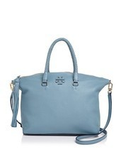 Tory Burch Taylor Leather Satchel in Falls Blue NEW Beautiful color! - ₨24,497.67 INR