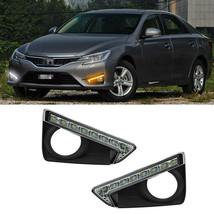 LED DRL Daytime Running Lights w/ Fog Driving Lamp Cover for Toyota Reiz... - $148.49