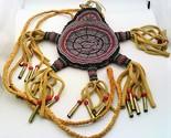 Turtle Bear Native Style Beaded Elk Skin Amulet Bag - $315.00