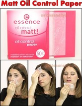 Essence Cosmetics All About Matt Oil Control Paper - 50 pcs Instant Matt Result - $7.32