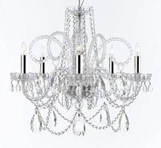 Murano Venetian Style Chandelier Crystal Lighting Fixture Pendant Ceilin... - $233.23