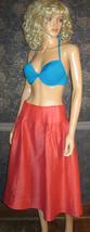 Victoria's Secret $138 Orange Linen & Silk Skirt 8 - $24.99