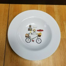 Oneida Kitchen Chefs to Go Rim Soup Bowl Chef on a Bicycle Bowl C - $5.93