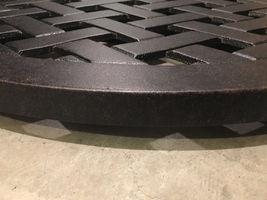 "Lazy Susan turntable 30"" rotates 360 degrees patio cast aluminum Nassau Bronze image 5"