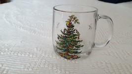 REPLACEMENT LUMINARC CHRISTMAS TREE CLEAR GLASS COFFEE CUP MUG 12 OZ, TH... - $9.89