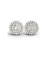 925 Sterling Silver Girl Stud Earrings White Yellow Rose Gold Color - $44.99