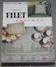Coats & Clarks Filet Crochet Book No. 317  Priscilla - $4.90