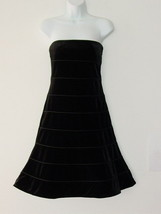 NWT GIORGIO ARMANI Black Velvet Seam Strapless Dress 42/8 - $242.49