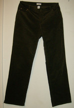 Charter Club Pantaloni Shop Donna Sz 12 Marrone Corduory Casual Spedizione - $18.75