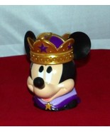 DISNEY Purple & Gold PRINCE MICKEY MOUSE Figural Plastic Cup Mug with Fl... - $8.49