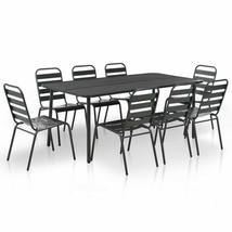 vidaXL Outdoor Dining Set 3/5/7/9 Piece Steel Dark Gray Furniture Garden... - $205.99+