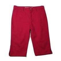 Lee Women's Denim Jean Shorts/Capris ~ Sz 12P ~ Dark Pink ~ Tapered - $14.84