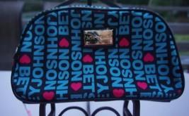 Betsey Johnson Black Signature Logo Loaf Dome Cosmetic Makeup Bag BM14855 - $29.69
