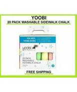new Yoobi Washable Sidewalk Chalk Multicolor 20 pack FREE SHIPPING non t... - $18.62