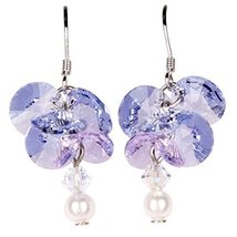 Woodstock Jewels Garden Reflections Swarovski Elements Wisteria Earrings