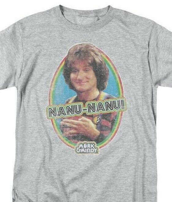 Mork & Mindy distressed T-shirt retro 70s classic tv show Robin Williams CBS890