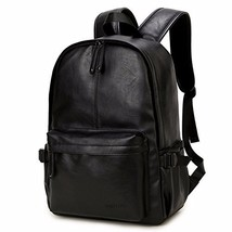 Vintage PU Leather Backpack, OURBAG Outdoor School College Bookbag fit Laptop Co