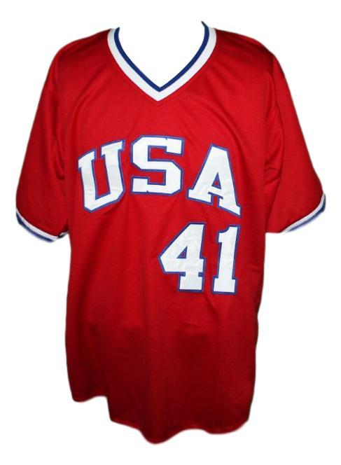 Marc mcgwire  41 team usa retro baseball jersey red   1
