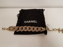 100% Authentic Chanel Chain CC Logo Coco Bracelet NEW with Box and dustbag $1275 - $890.99