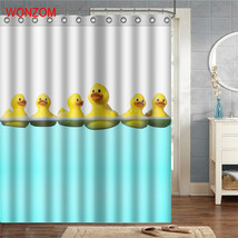 WONZOM Duck Polyester Fabric Dog Shower Curtain Penguin Bathroom Decor W... - $35.15