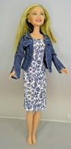 Mary Kate & Ashley Doll - Mary Kate Curl & Style Doll 2002 Dressed Missing Shoes - $14.84