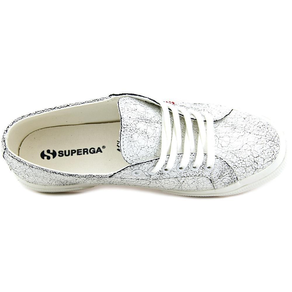 Superga Women's 2750 Crackedleaw Fashion Sneaker, White, 41 EU/9.5 M US