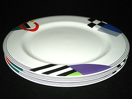 3 MIKASA MAXIMA High Spirits Dinner Plates CAK12 JAPAN LOOK - $119.99