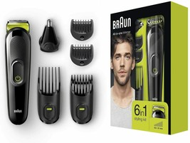 Braun MGK3021 - Machine Clipper 6 IN 1 Beard And Hair Clippers,Hair Nose - $214.63