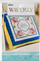 """Bucilla Stamped Embroidery Monogram Pillow Kit 10""""X10""""-Waverly-Charmed - $9.78"""