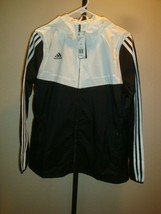 New Adidas Women's Soccer Tiro Windbreaker Jacket DY0098 Black/White  Si... - $59.39