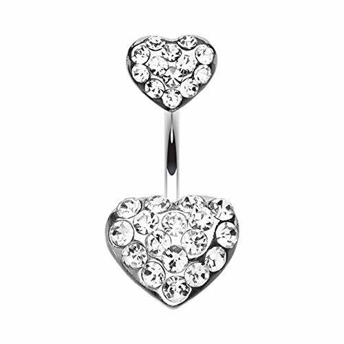 Primary image for Brilliant Double Hearts WildKlass Belly Button Ring