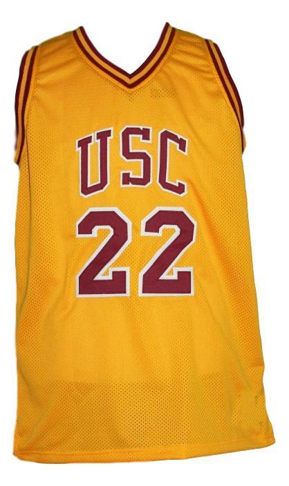 Mccall  22 custom usc basketball jersey yellow   1