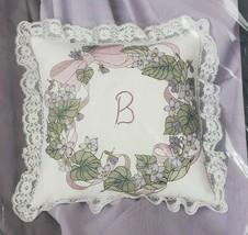 Violet Wreath Pillow Candamar Golden Bee Stamped Cross Stitch Kit 20376 - $22.99