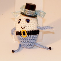 "Humpty Dumpty Miniature Ornament, Blue, 2.5"", Hat, Doll, Toy, Stuffed, P... - $14.80"