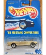 '65 MUSTANG CONVERTIBLE # 455 HOT WHEELS Gold Metal  NIB 13871 - $6.99