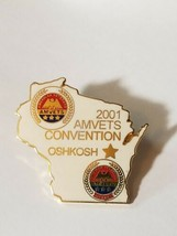 WISCONSIN AMVETS 2001 AMVETS CONVENTION OSHKOSH Lapel Pin image 1