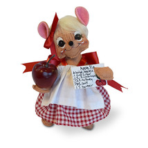 Annalee Dolls 6in 2018 Harvest Apple Picking Girl Mouse Plush New with Tags - $18.32