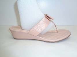 Cole Haan Size 8.5 M TALI BOW 40 Nude Leather Wedge Sandals New Womens S... - $88.11