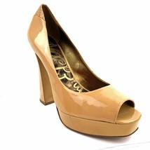 Sam Edelman 'tacoma' Tan Patent Leather Peep Toe Pump Size 10 Med **Nwob - $34.64