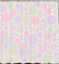 Pastel Colorful Circles Geometric Fabric Shower Curtain Polka Dots Print... - $20.78
