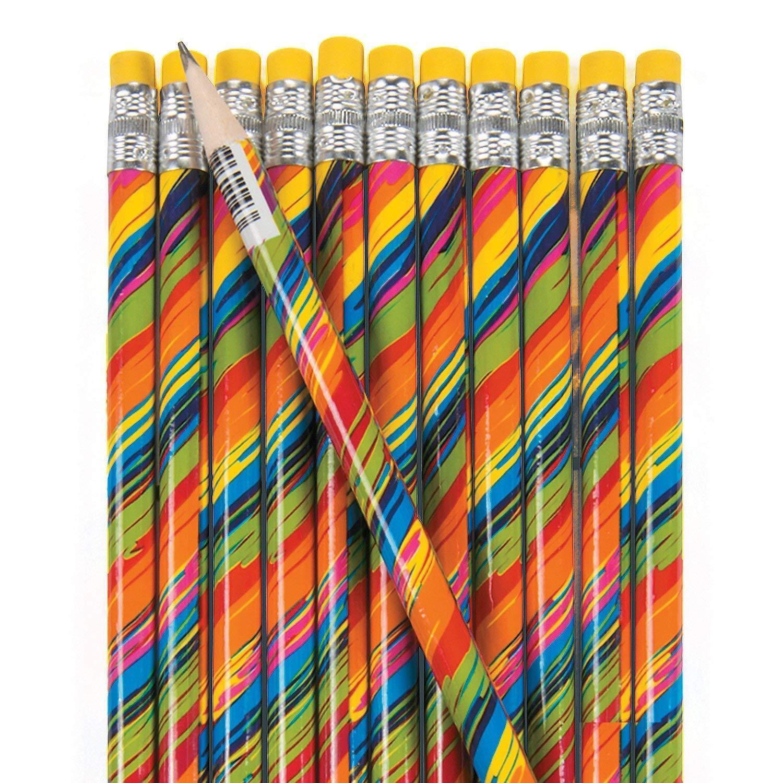 "Wild Color Rainbow #2 Pencils (2 dozen per unit) 7 1/2"". Wood."