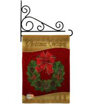 Christmas Wishes Burlap - Impressions Decorative Metal Fansy Wall Bracket Garden - $33.97