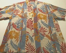 Tommy Bahama Hibiscus Hacienda Continental Respun Silk Hawaiian Camp Shirt 2XL - $44.50
