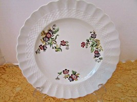 SPODE COPELAND CHINA DINNER PLATE BASKET WEAVE WICKER LANE MADE IN ENGLAND  - $9.85