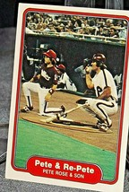 1982 Topps Pete & Re-Pete Pete Rose and Son AA20-BTC3033 Baseball Trading Cards